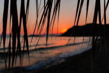 Niesamowity zachód słońca na wyspie Zakynthos