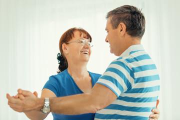 Senior couple dancing