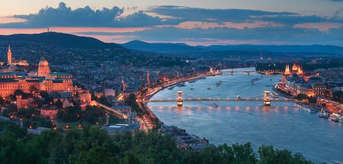 Gelert hill view of Szechenyi Bridge and Buda Castle