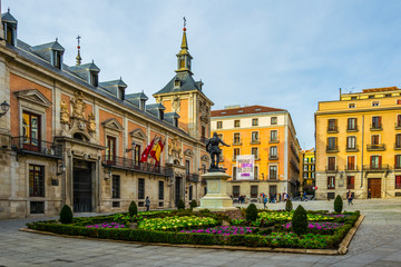 Plaza de La Villa in the old town of Madrid