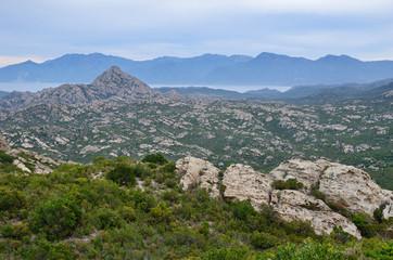 Corsican coastal desert des Agriates