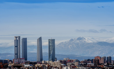 Four towers of Madrid