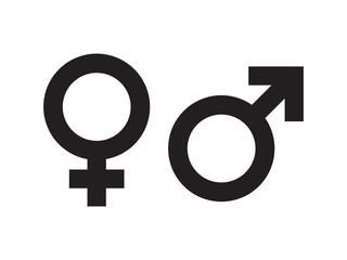 Wektor symbol płci