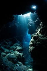 Underwater Cavern and Light