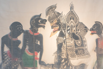 southern thai shadow play figure made from cow hide