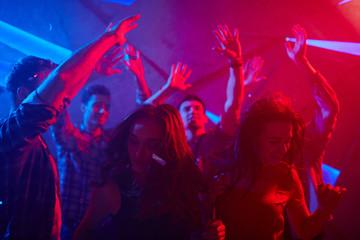 Teens at disco