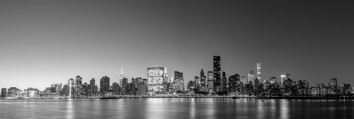 Midtown Manhattan skyline panoramic view