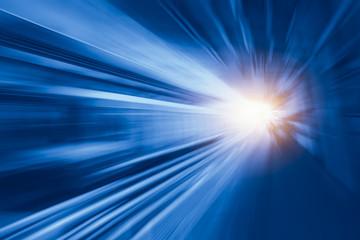 Szybki biznes i technologii pojęcie, przyśpieszenie ruchu super szybka szybka plama dworzec dla tło projekta.