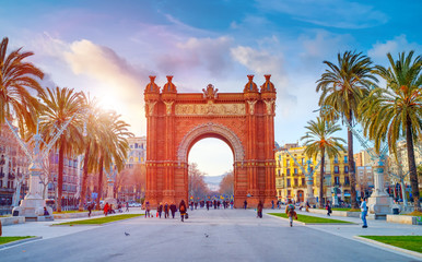 BARCELONA,SPAIN/FEBRUARY 27,2012: Triumphal Arch