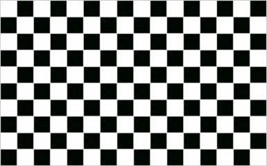 Square Black and white checkered abstract background with grey b
