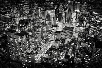 Bright city lights of New York City, USA