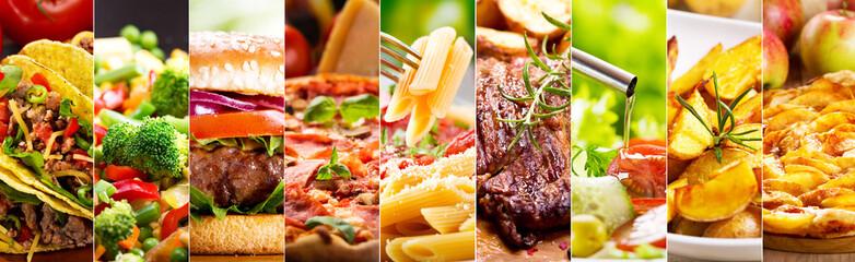 kolaż produktów spożywczych
