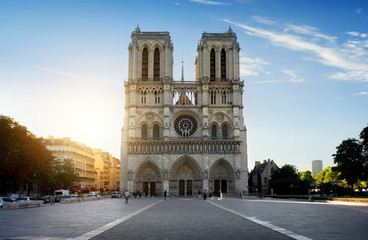 Facade of Notre Dame