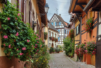 Street in Eguisheim, Alsace, France