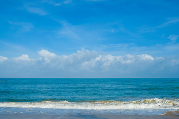 Blue sea and cloudy sky in nature