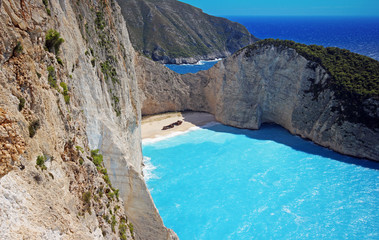 Navagio Beach (Shipwreck beach)  on Zakynthos Island. Greece