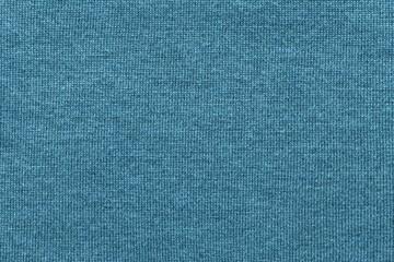 tekstura wełniana tkanina lub przędza zbliżenie w kolorze niebieskim