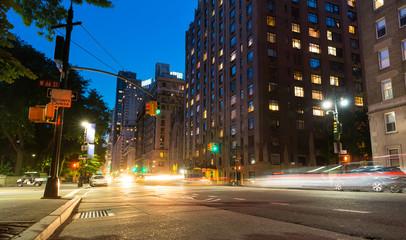 New York City street at night time