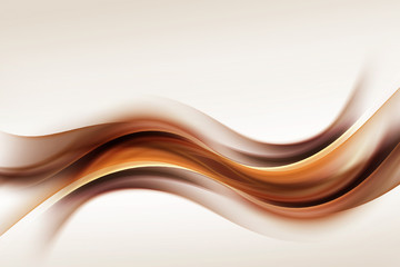 Gold Brown Waves Blurred Abstract Background