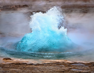 Strokkur geyser eruption