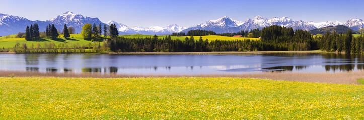 Panorama Landschaft im Allgäu bei Füssen