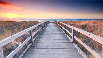 Przeprawa plażowa do Morza Bałtyckiego - wiosna