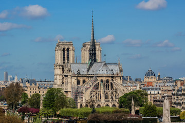 Cathedral Notre Dame de Paris on Cite Island, Paris, France.