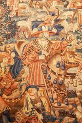 Détails dans une tapisserie ancienne