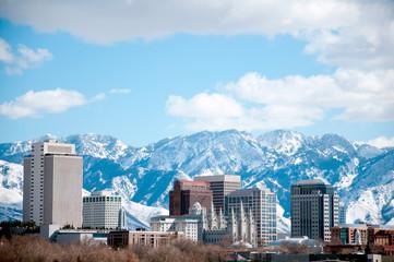 Salt Lake City Skyline in the Winter