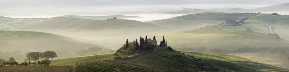 Panoramica della Val d'Orcia in Toscana