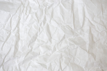 White crumpled paper. Texture.