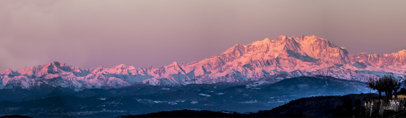 Monte Rosa lit by the morning sun