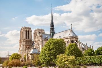 The Cathedral of Notre Dame de Paris, France, Spring