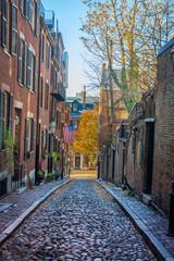 Acorn Street - Boston, Massachusetts, USA