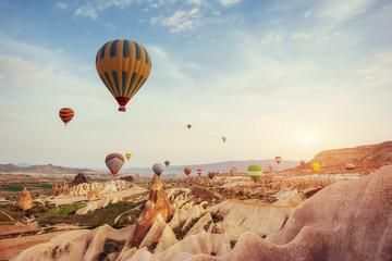 Turcja Kapadocja piękne balony lot kamień krajobraz
