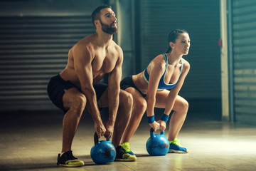 Training by kettlebell