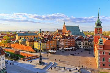 Widok z góry na stare miasto w Warszawie. HDR - wysoki zakres dynamiki