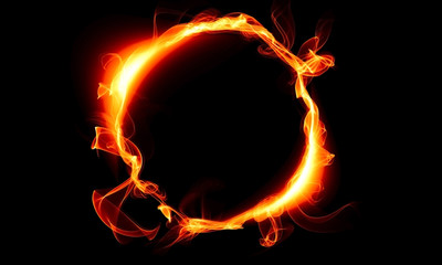 Ring consisting of a fire. The magical thing. Fantasy