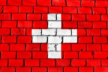 The flag on the wall. Switzerland