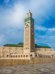 Third largest Mosque Hassan II in Casablanca Morocco