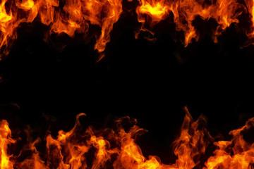rama prawdziwych płomieni ognia palić ruch