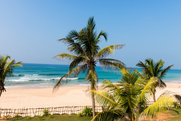 Tropical beach on indian ocean in Sri Lanka