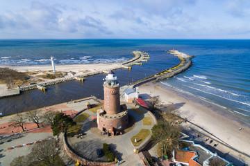 Lighthouse on the baltic seashore