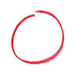 Gemalter roter Kreis