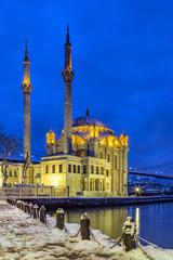 Ortakoy mosque and Bosphorus Bridge