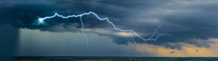 Lightning in the landscape