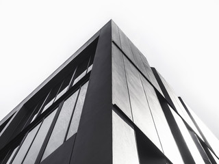 Architecture detail Modern Facade building Black and White