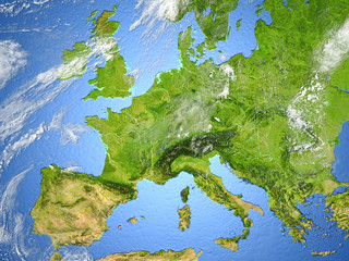 Europe on planet Earth
