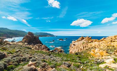 Rocky shore in Costa Paradiso