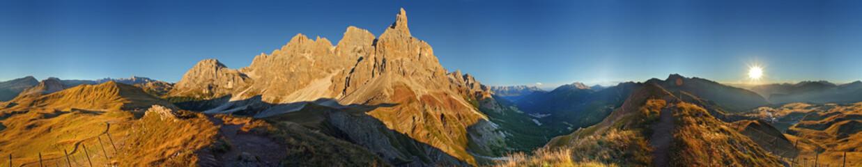 Dolomity, Pale di San Martino w 360 °